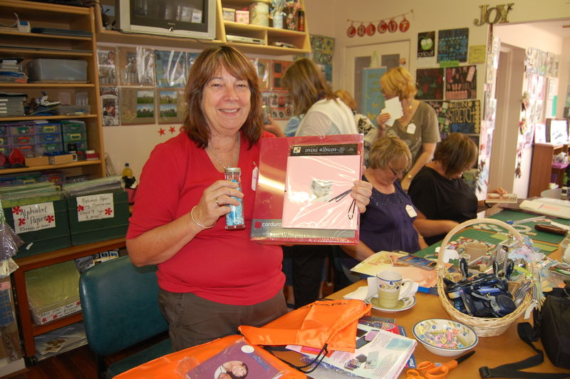 Cheryl Gregson and her raffle prize