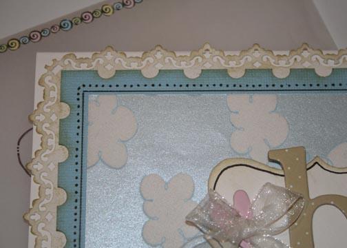 Baby card close up