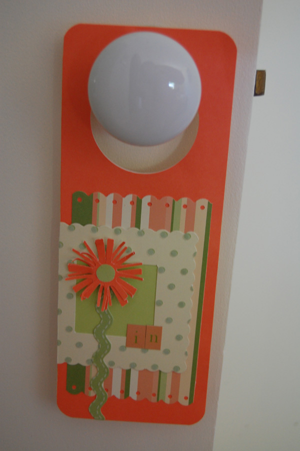 Craftfest Door hanger - inside..
