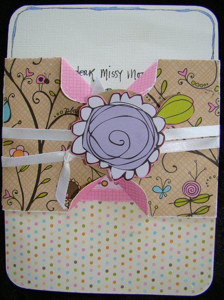 girly birthday card  fiskars craft