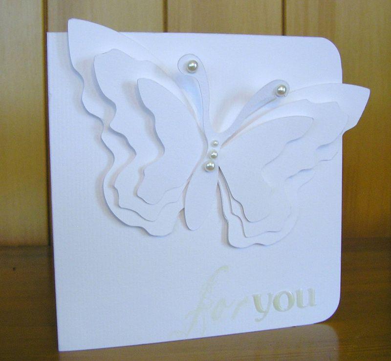 Butterfly shape card 003