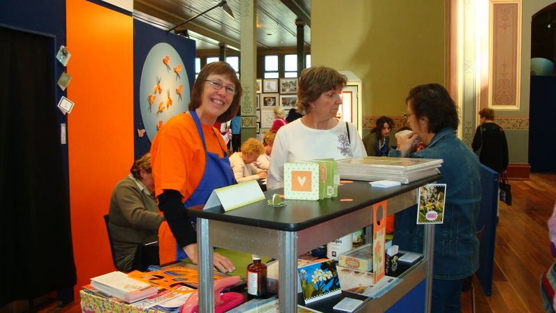 Dianne at demo stand