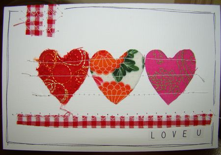 Fabric loveheart card 1