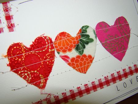 Fabric loveheart card 2
