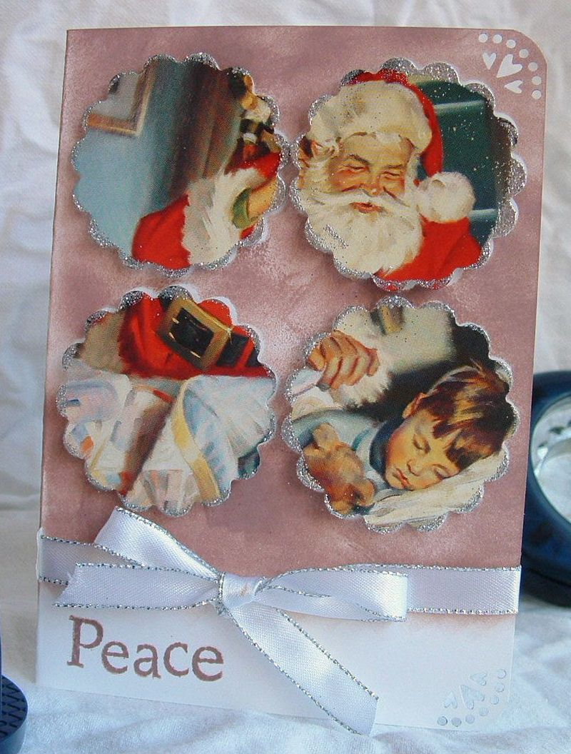 Recycle your old christmas cards fiskars craft for How to recycle old christmas cards