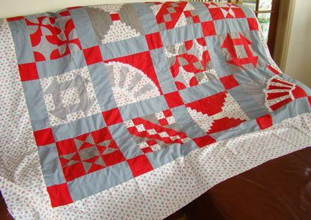 Red quilt full