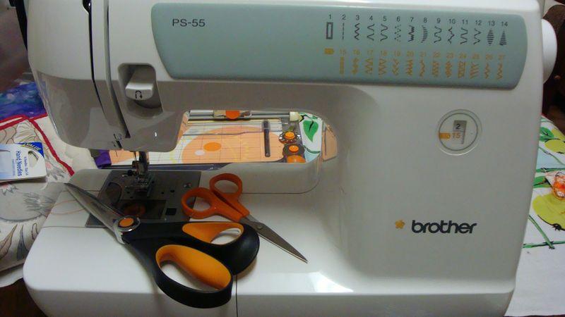 Sewing machin,scissors