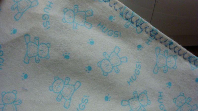 Fancy stitch on cot sheet