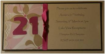 21st Invitation - Dawn