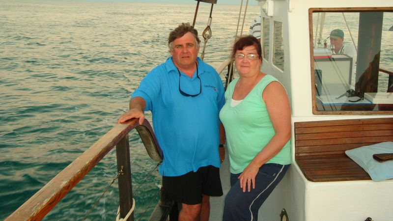 Rod and Lyn sunset cruise