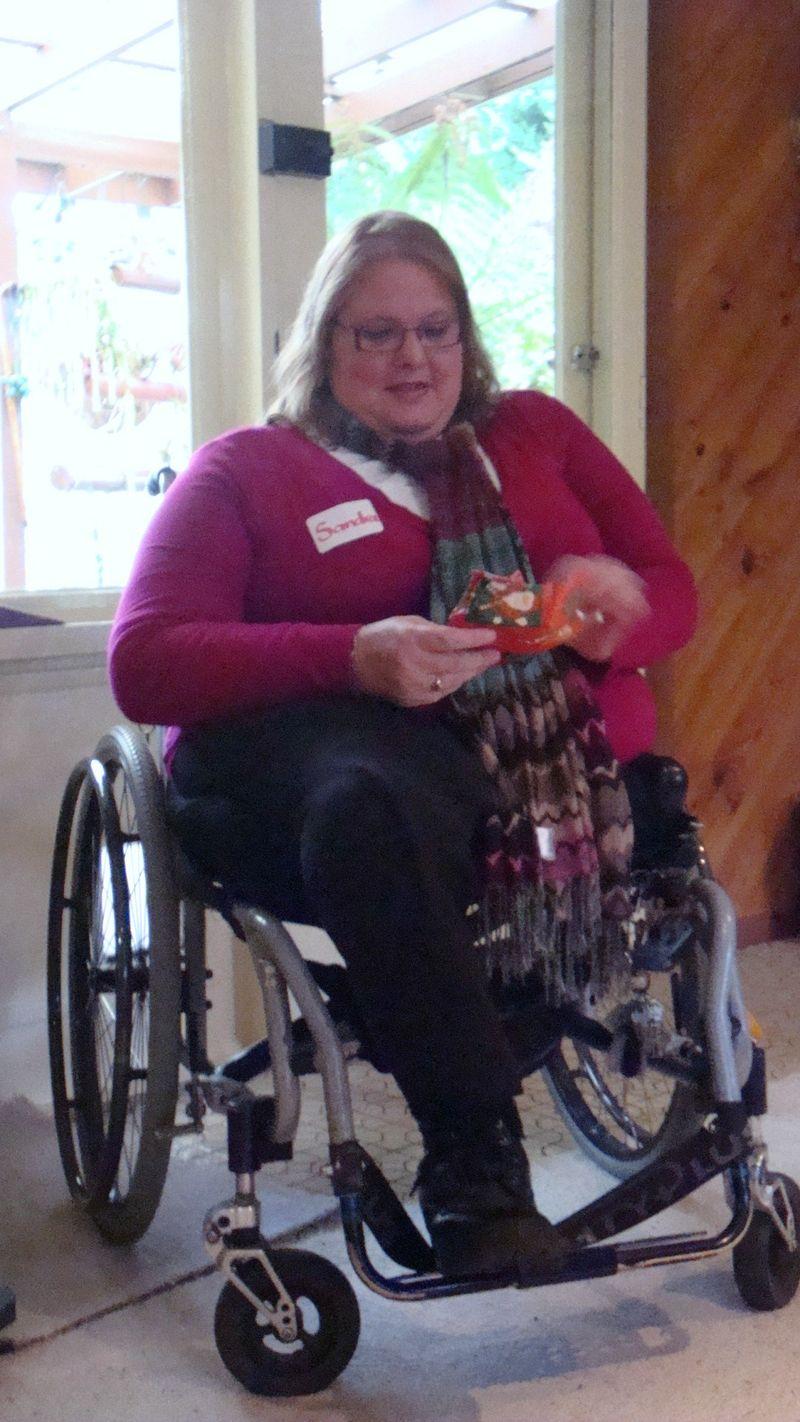 Sandra with prize