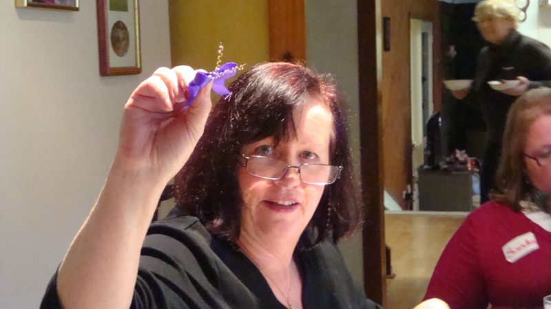 Carolyn with her ribbon butterfly