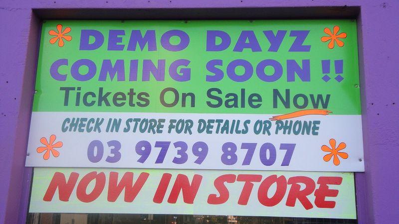 Demo Dayz sign