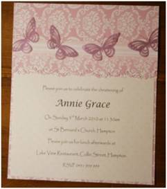 Christening Invitation - Dawn