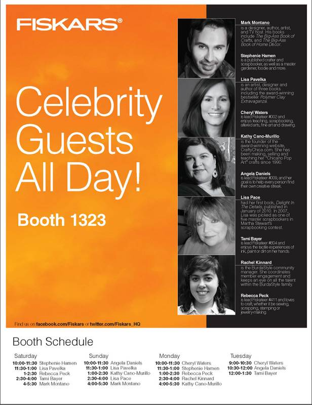 Fiskars Booth Schedule1