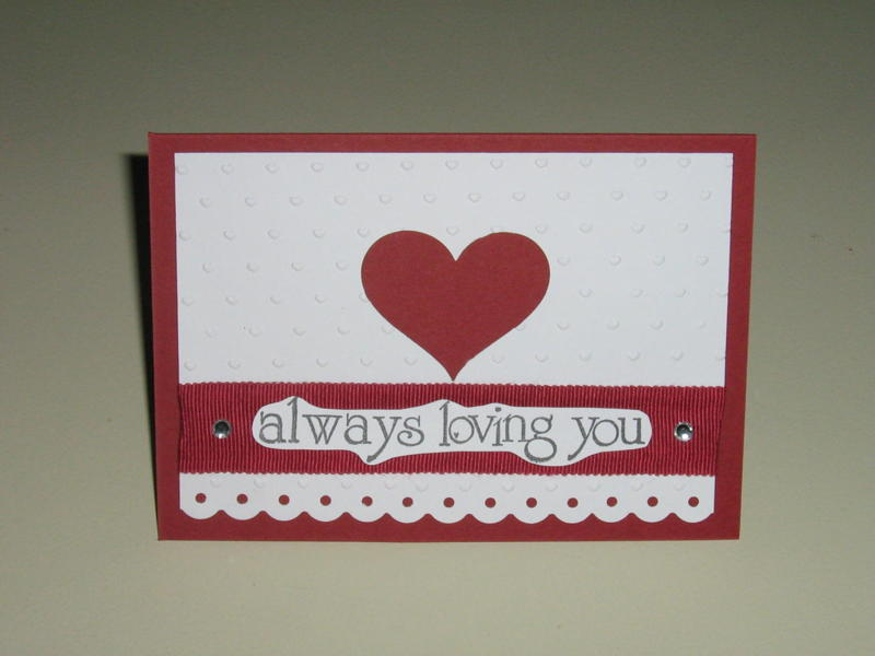 Always loving you heart card