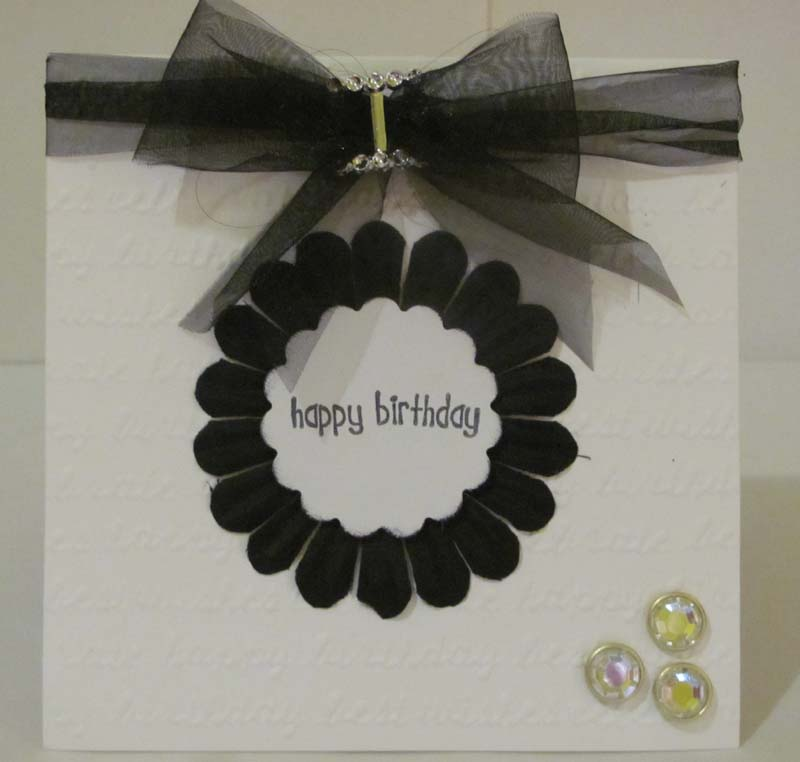Black&white card