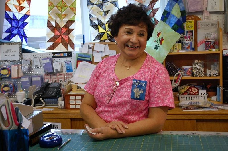 Quilt shop owner Betty