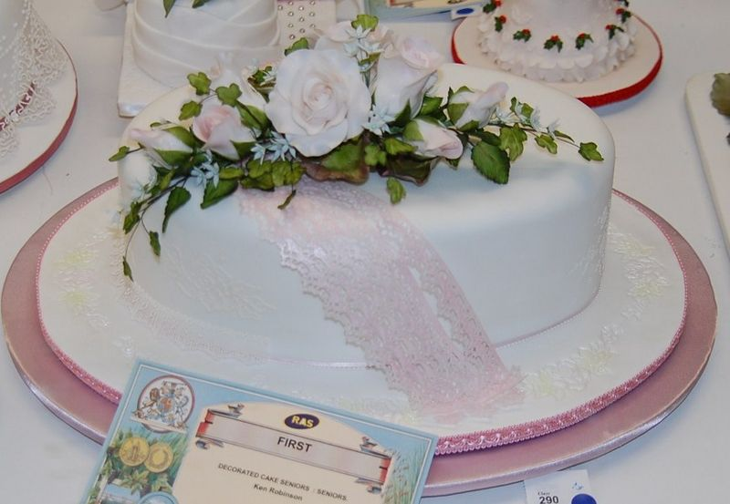 Decorated Cake using Fiskars Lace Border Punch