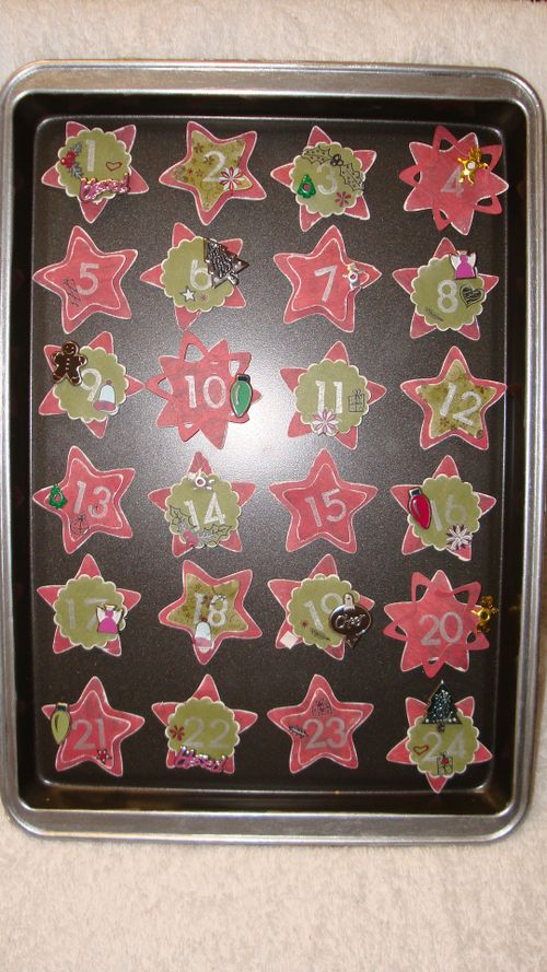 Xmas Count Down - Baking TRAY AND MAGNETS