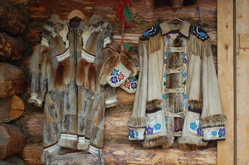 Athabaskan coats and mittens