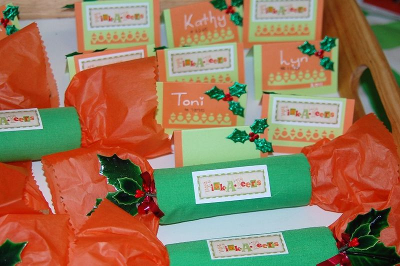 Bon bons and place cards