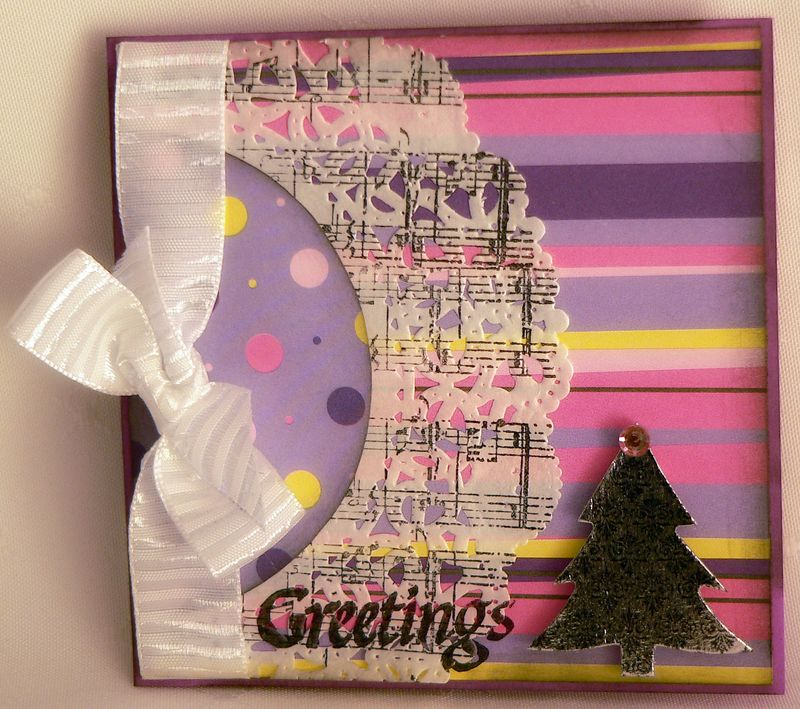 Pink tree card 25