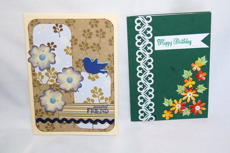 Tracy and Anna's cards