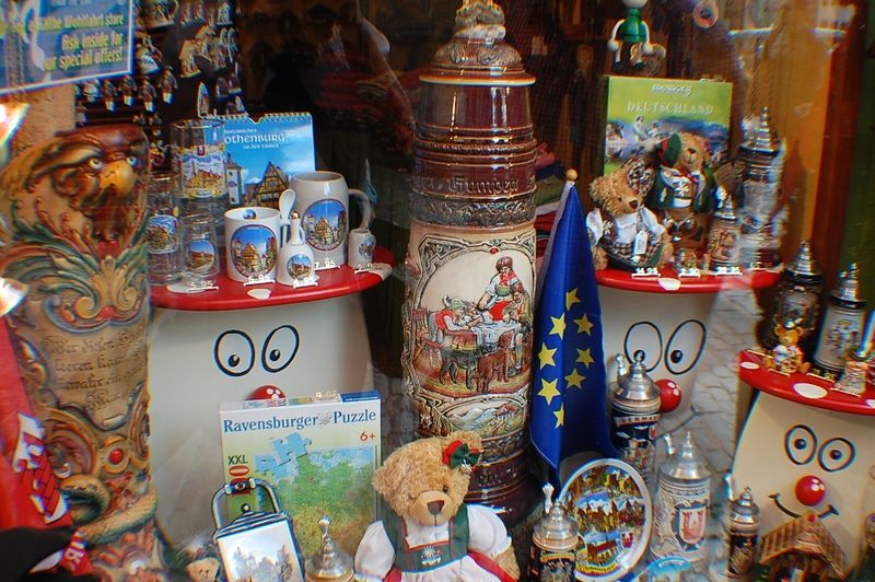 German steins and souvenirs