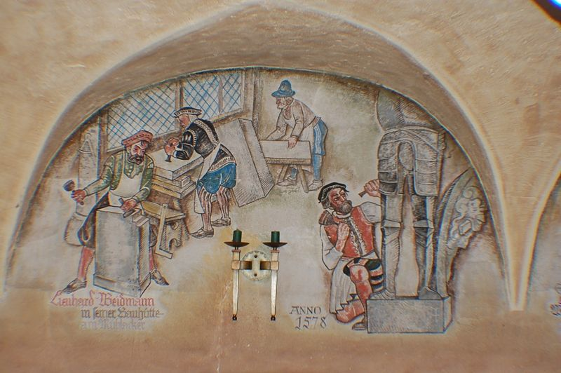 Wall painting Rothenburg