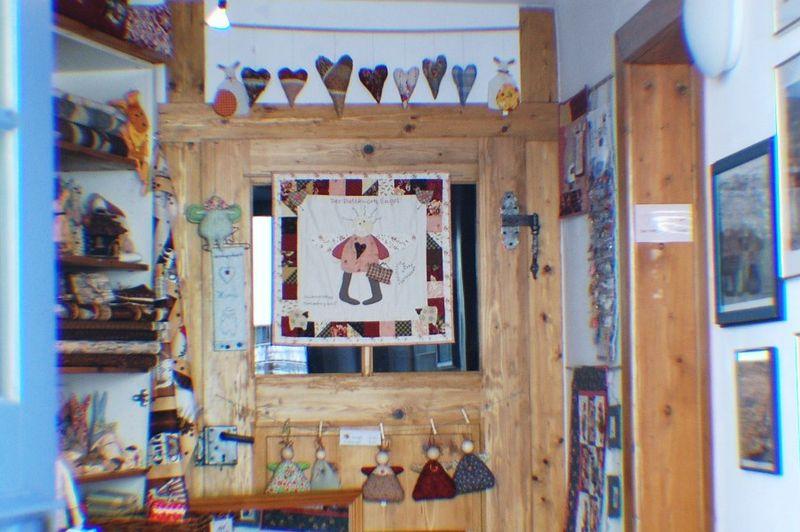 Patchwork shop  inside Rothenburg