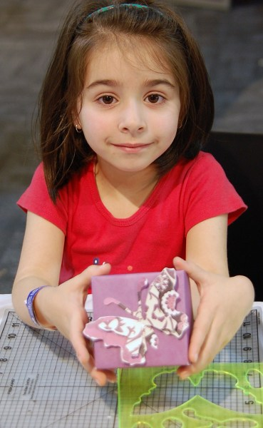 Angelica with gift box