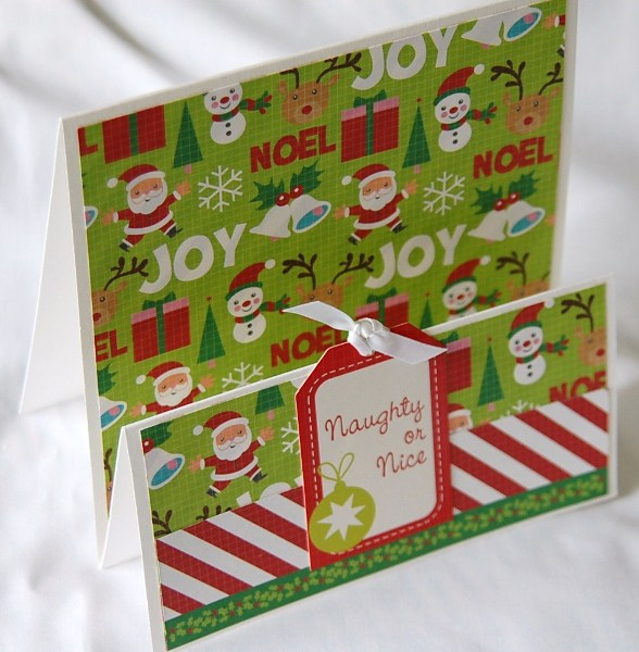 Naughty or nice stepper card