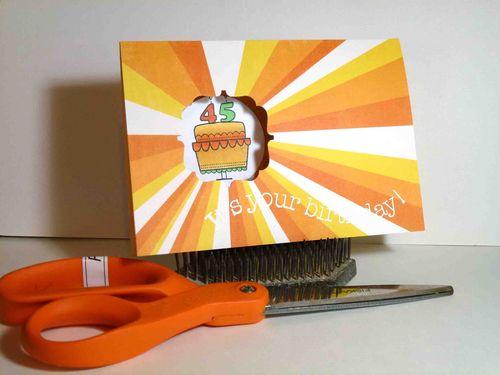Birthday Card using FRAMED Everywhere Punch - Tara