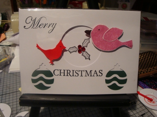 Cute Xmas Card using everywhere punch & woodland template- Lyn