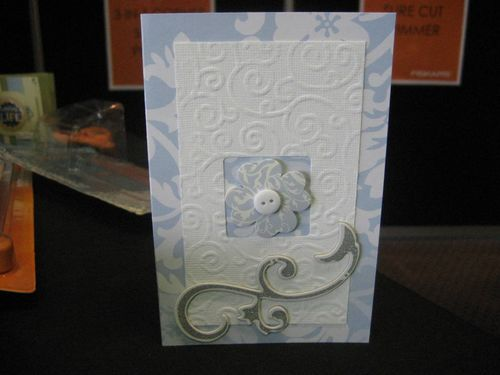 Embossing and window card