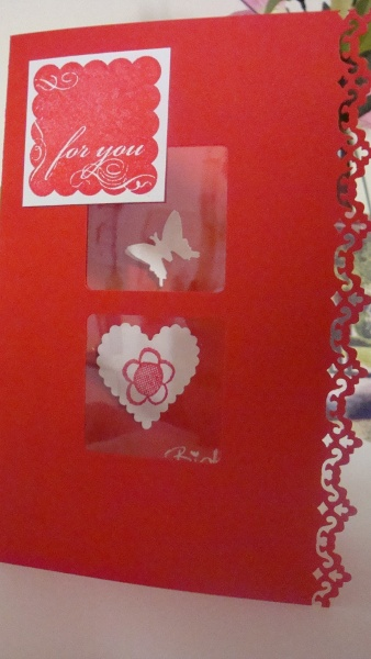 Window Card using Everywhere Punch and Butterfly Lever Punch - Lyn