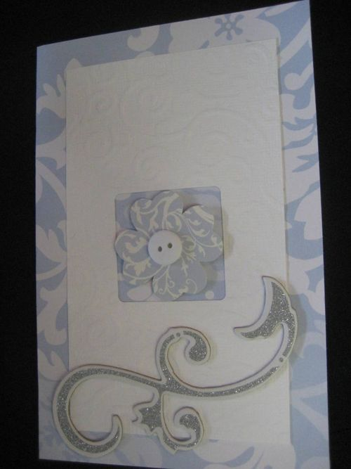 Embossed  card and lever punch - Phillipa