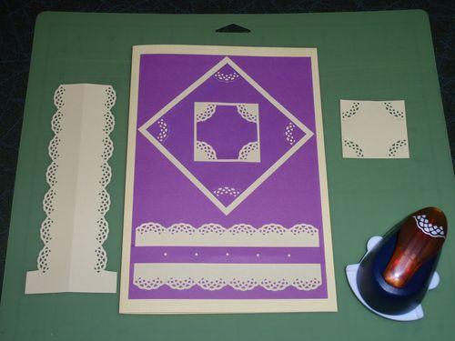 Lattice corner lever card Tracy M