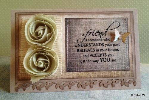 Friendship Card by Robyn