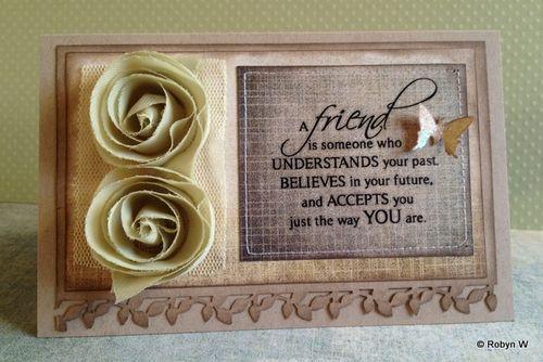 Friendship Card by Robyn