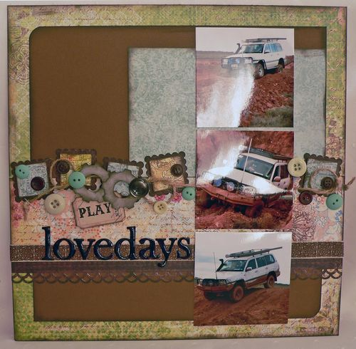 Lovedays Layout by Michelle