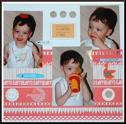 Somtimes I laugh,sometimes I cry Layout by Lyn