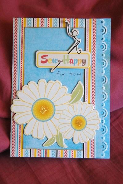 Sew Happy Card by Lyn D